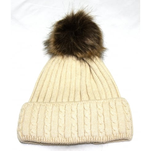 Something For Me White Something For Me Bobble Hat - 391105